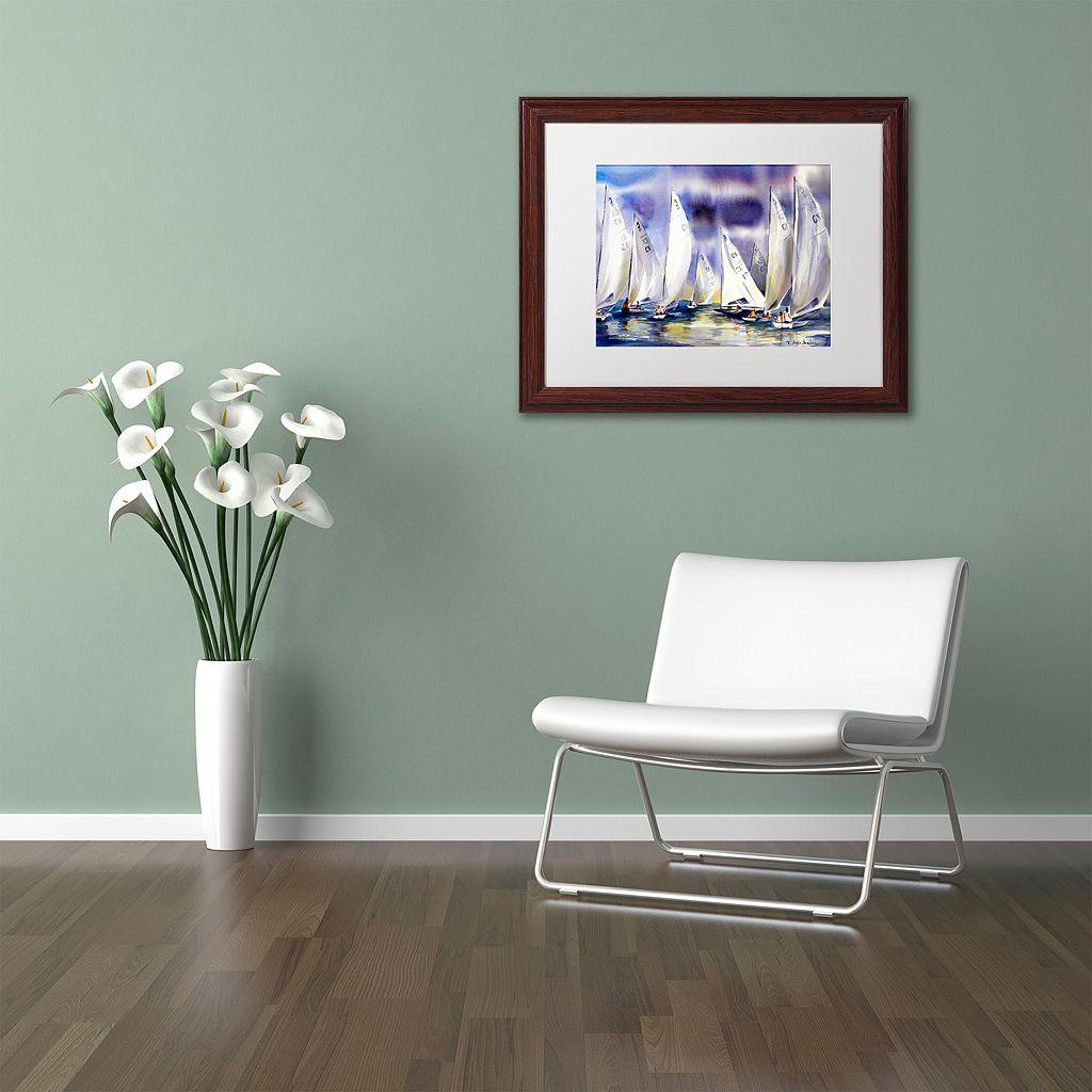 Trademark Fine Art Regatta Framed Wall Art