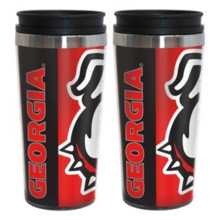 Georgia Bulldogs 2-Pack Hype Travel Tumblers