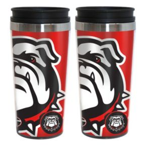 Georgia Bulldogs 2-Pack Hype Travel Tumblers