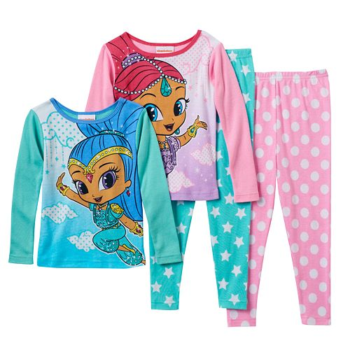 Shimmer /& Shine Wish Little Girls Pajama Set 2-Piece Pajamas