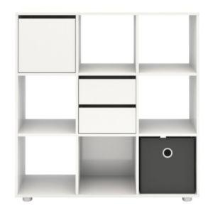 Tvilum Demi White 9-Cubby Bookshelf