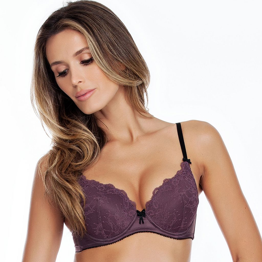 Affinitas Bras: Claire Lace Padded Push-Up Bra A12411
