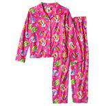 Girls 4-12 Shopkins Apple Blossom, Lippy Lips, Poppy Corn Coat Pajama Set