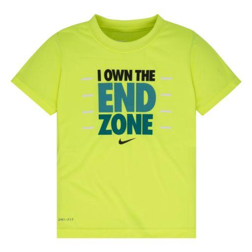 "Boys 4-7 Nike Dri-FIT ""I Own The End Zone"" Tee"
