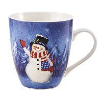 Pfaltzgraff Patriotic Snowman Mug
