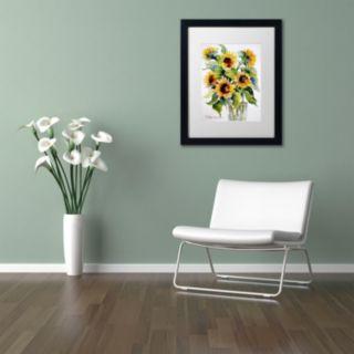 Trademark Fine Art Sunflowers Matted Framed Wall Art