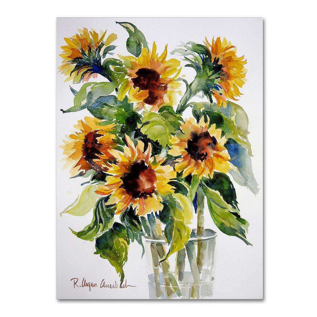 Trademark Fine Art Sunflowers Canvas Wall Art