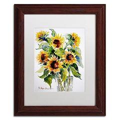 Trademark Fine Art Sunflowers Framed Wall Art