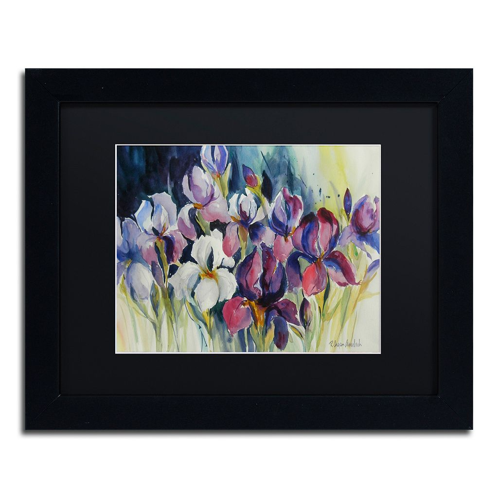 Trademark Fine Art White Iris Matted Framed Wall Art