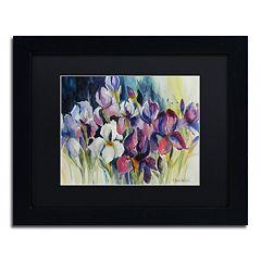 Trademark Fine Art White Iris Matted Framed Wall Art