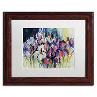Trademark Fine Art White Iris Framed Wall Art