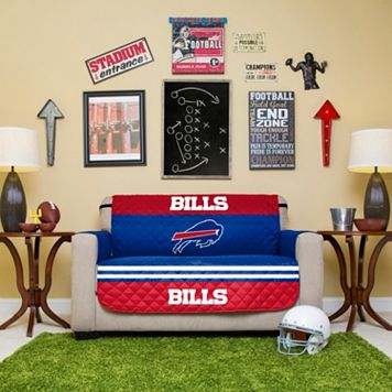 Buffalo Bills Quilted Loveseat Cover