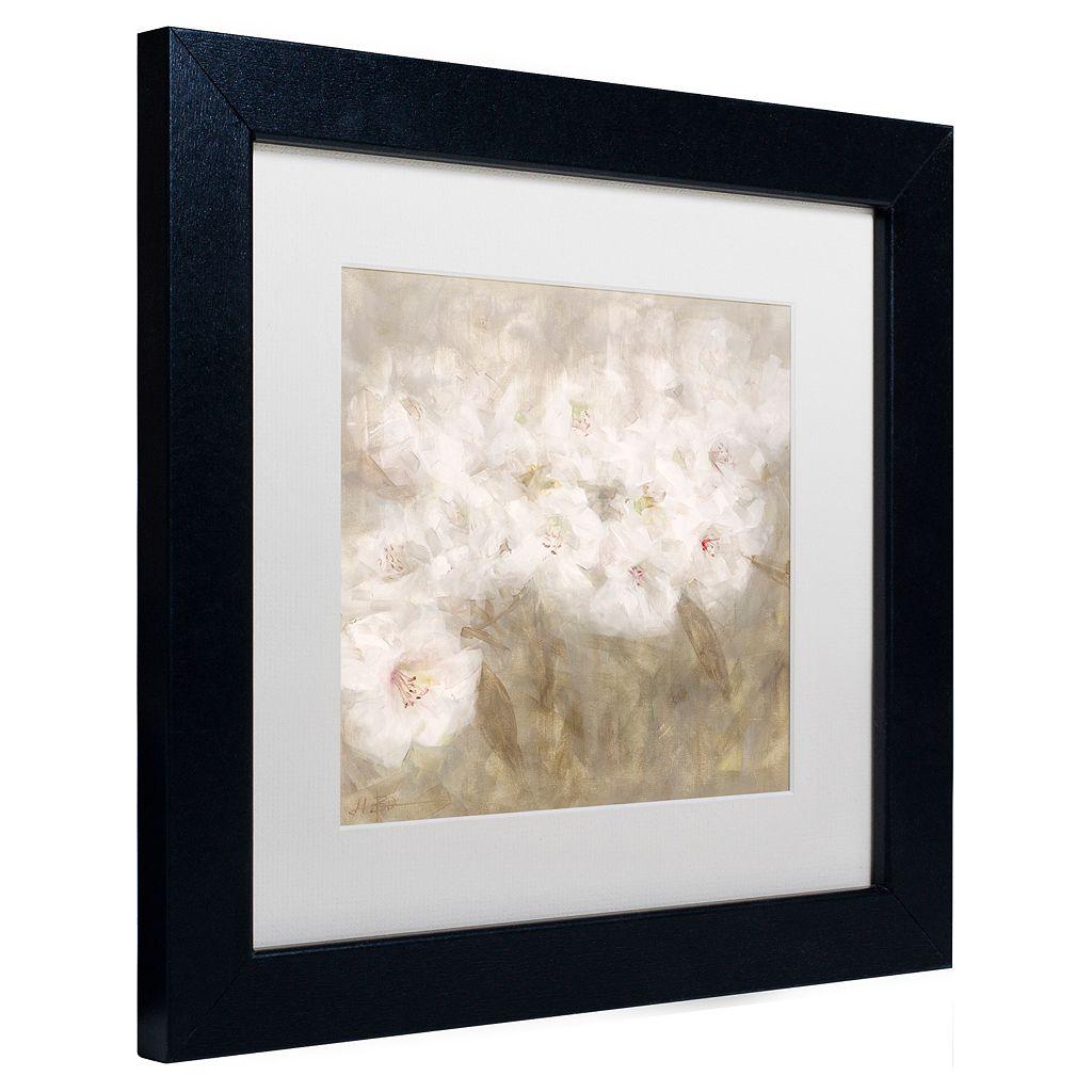 Trademark Fine Art Wild Flowers I Matted Framed Wall Art