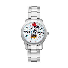 Disney's Minnie Mouse 'Rock the Dots' Women's Stainless Steel Watch