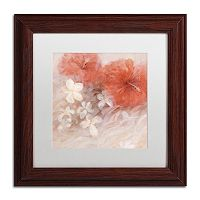 Trademark Fine Art Hibiscus II Matted Framed Wall Art