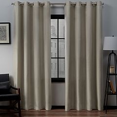 Exclusive Home 2-pack Loha Linen Grommet Top Window Curtains