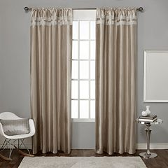 Exclusive Home 2-pack Glitz Window Curtains