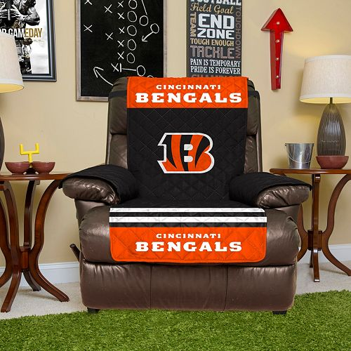 Cincinnati Bengals Quilted Recliner Chair Cover
