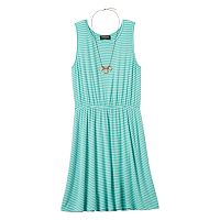 Girls 7-16 & Plus Size HeartSoul Skater Dress & Necklace Set