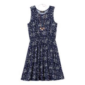 Girls 7-16 & Plus Size HeartSoul Skater Dress & Necklace Set