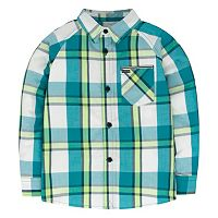 Boys 4-7 Hurley Patterned Button-Down Shirt