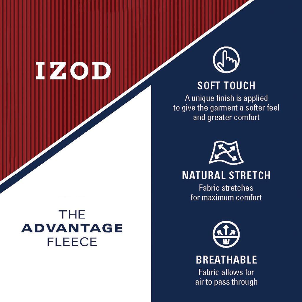 Big & Tall IZOD Advantage Classic-Fit Soft-Touch Quarter-Zip Pullover Sweater