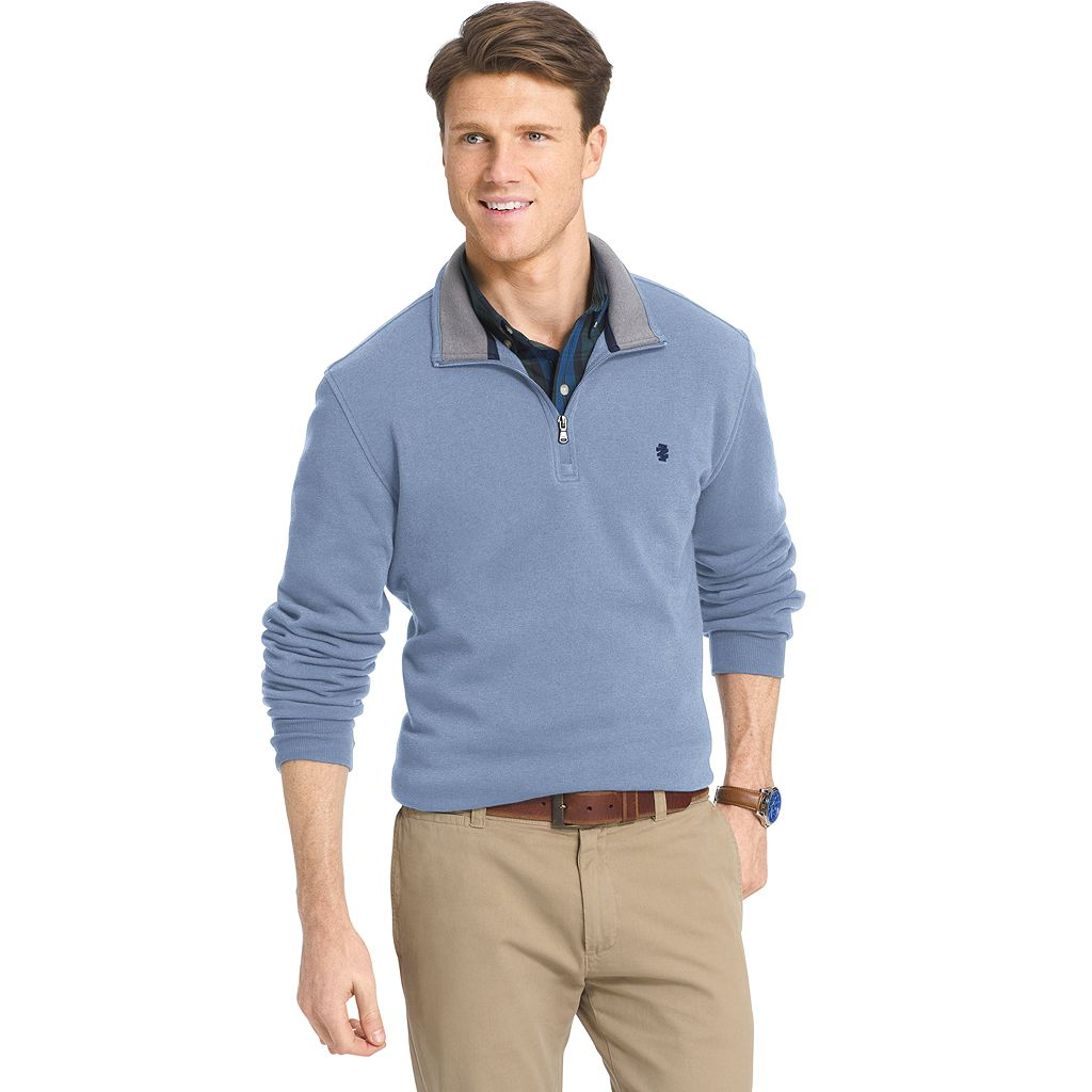 Big & Tall IZOD Advantage Classic-Fit Soft-Touch Quarter-Zip Pullover Sweater