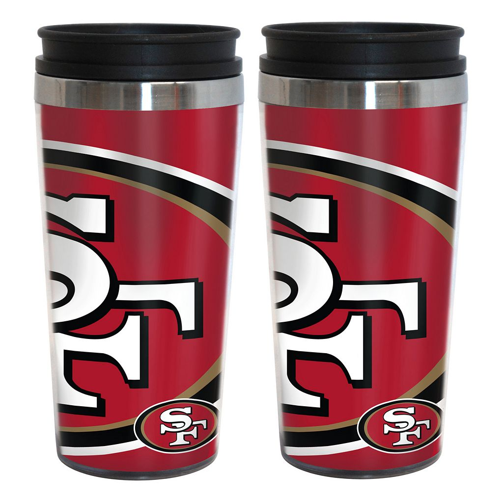 San Francisco 49ers 2-Pack Hype Travel Tumblers