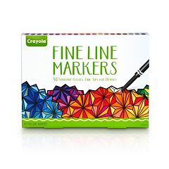 Crayola Adult Coloring 40 pc Fine Line Markers