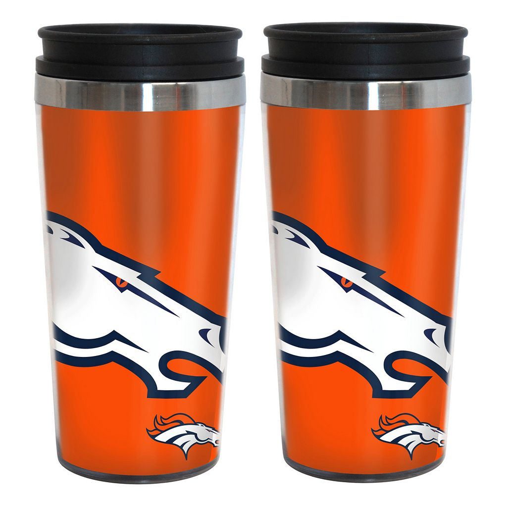 Denver Broncos 2-Pack Hype Travel Tumblers