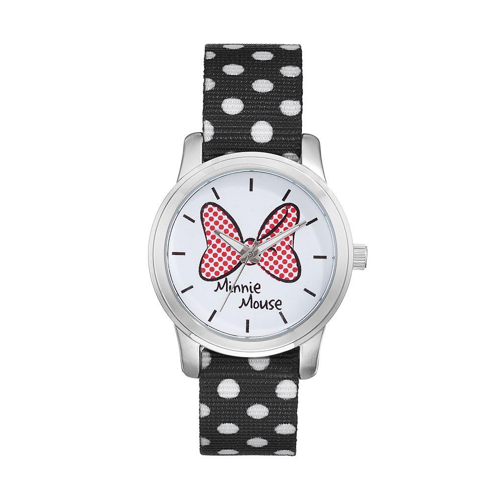 Disney's Minnie Mouse Bow Women's Polka Dot Reversible Watch