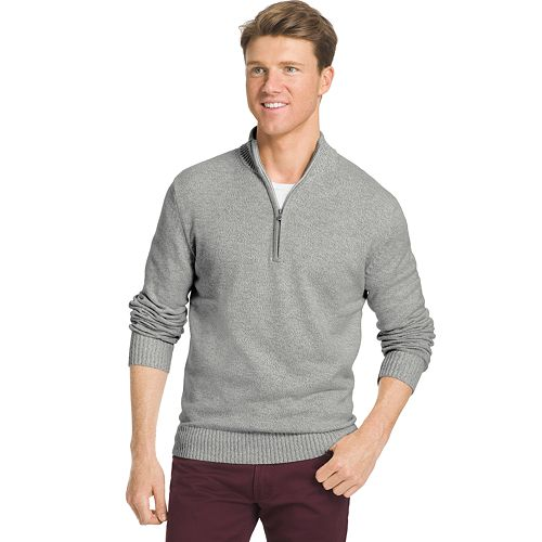 Big & Tall IZOD Classic-Fit Marled Quarter-Zip Sweater