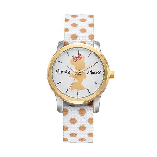 Disney's Minnie Mouse Women's Polka Dot Reversible Watch