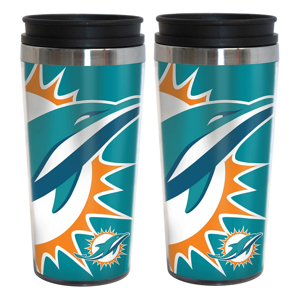 Miami Dolphins 2-Pack Hype Travel Tumblers