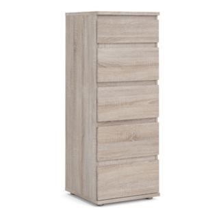 Tvilum Aurora Narrow 5-Drawer Dresser