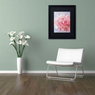 Trademark Fine Art Pink Peonie I Matted Framed Wall Art