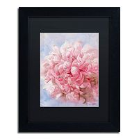 Trademark Fine Art Pink Peonie I Matted Framed Wall Art