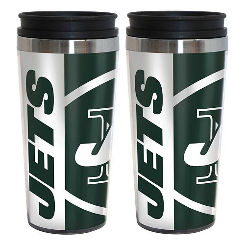 New York Jets 2-Pack Hype Travel Tumblers