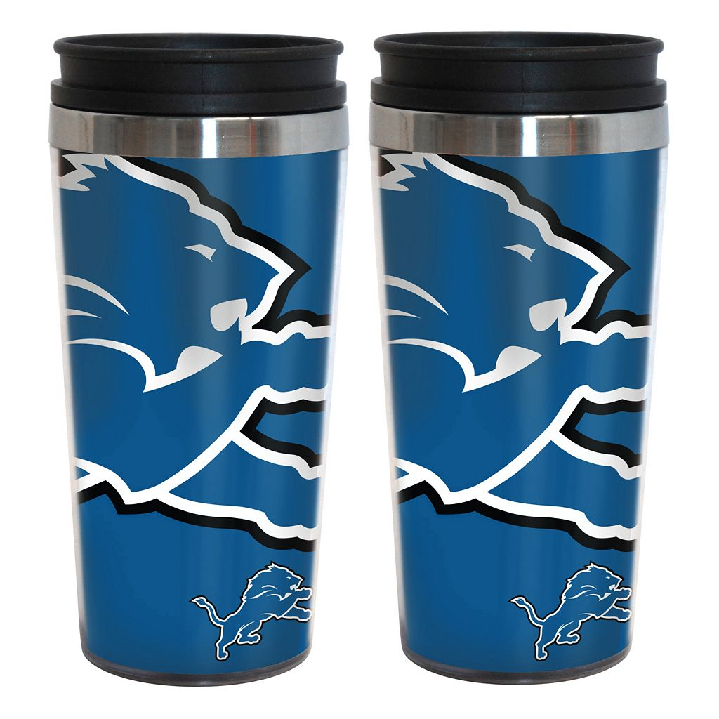 Detroit Lions 2-Pack Hype Travel Tumblers