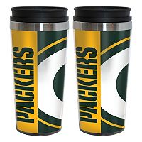 Green Bay Packers 2-Pack Hype Travel Tumblers