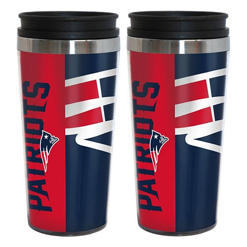 New EnglandPatriots 2-Pack Hype Travel Tumblers