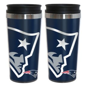 New England Patriots 2-Pack Hype Travel Tumblers