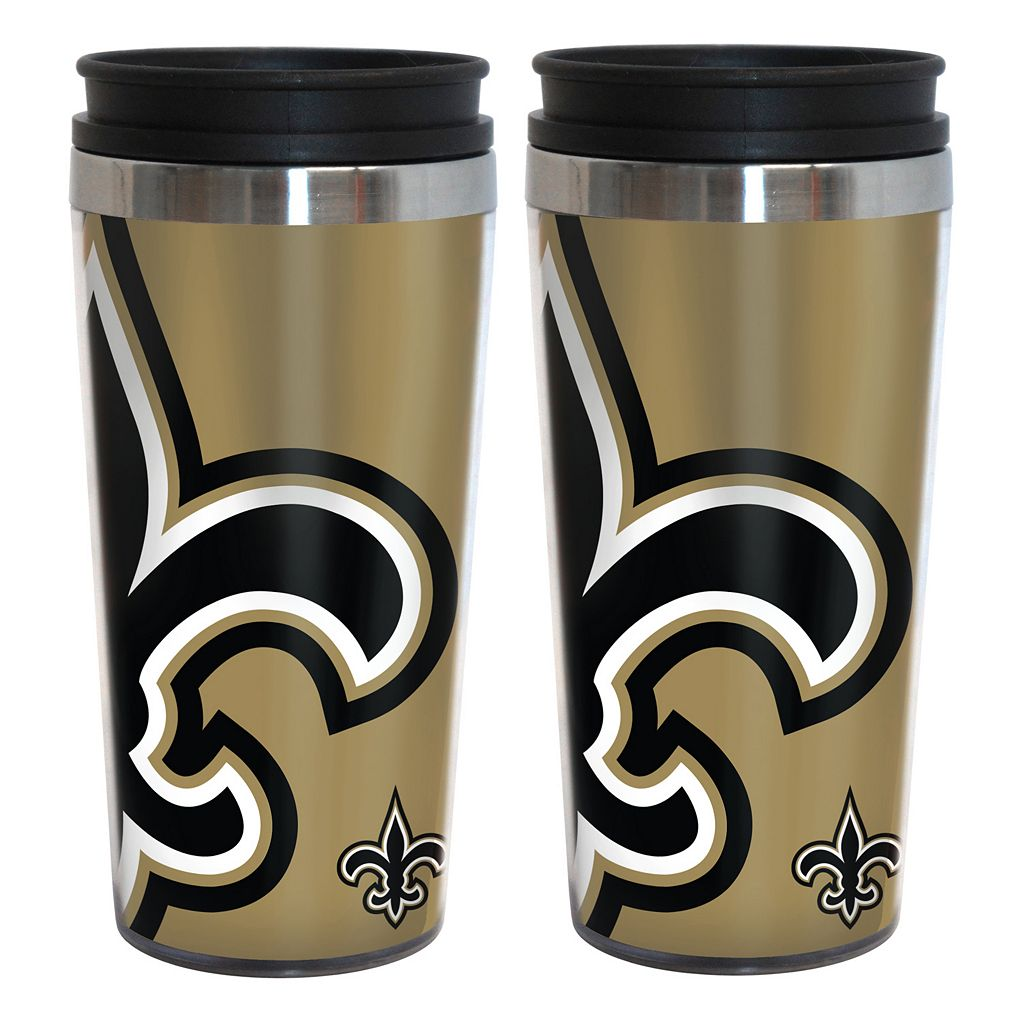 New Orleans Saints 2-Pack Hype Travel Tumblers