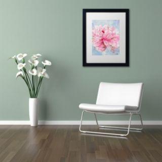 Trademark Fine Art Pink Peonie II Matted Framed Wall Art