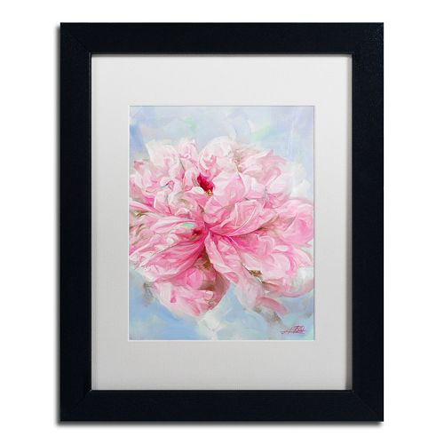 Trademark Fine Art Pink Peonie II Matted Framed Wall Art