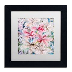 Trademark Fine Art Lily Patch Matted Framed Wall Art