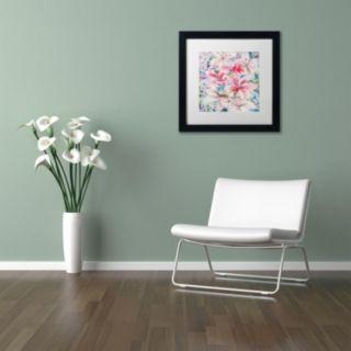 Trademark Fine Art Lily Patch Matted Framed Wall Art
