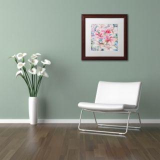 Trademark Fine Art Lily Patch Framed Wall Art