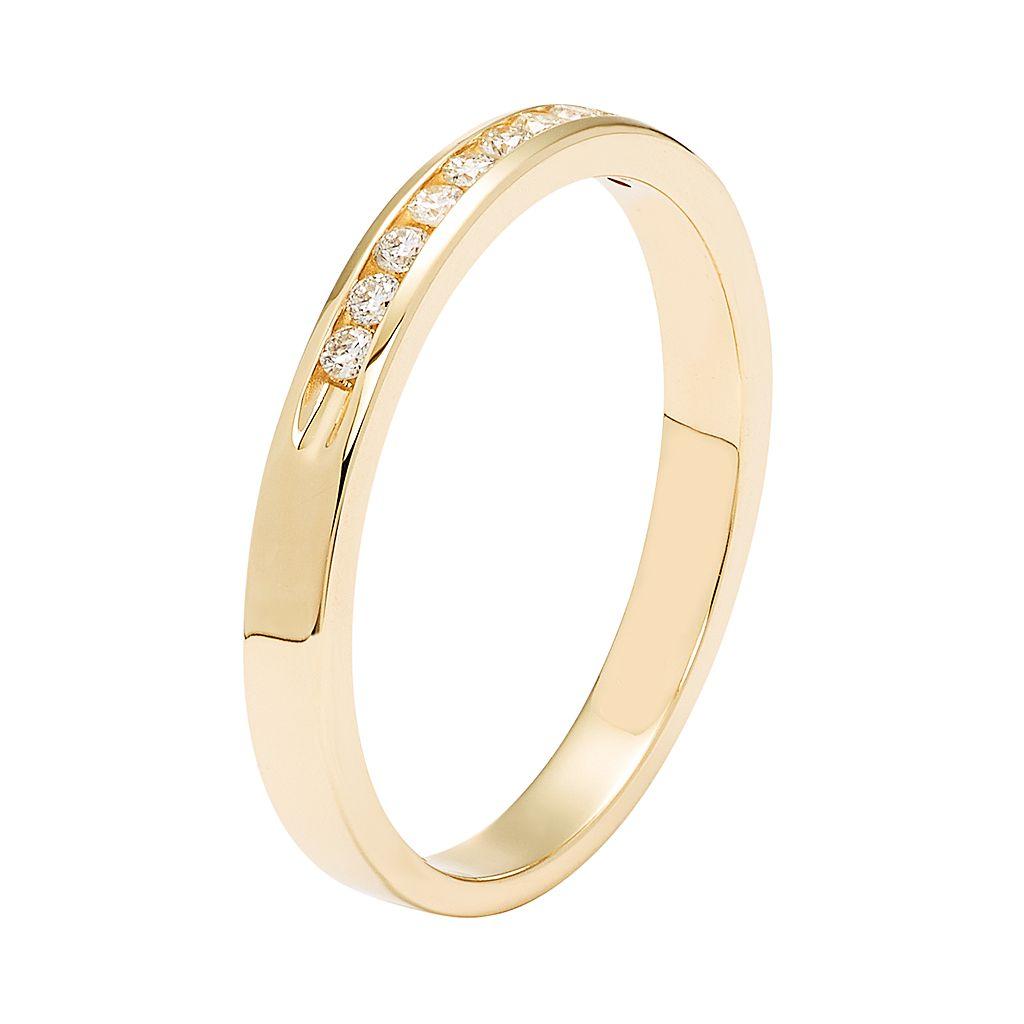 14k Gold 1/10 Carat T.W. Diamond Anniversary Ring