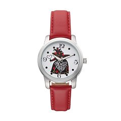 Disney's Alice in Wonderland 'Off With Their Heads' Women's Leather Watch